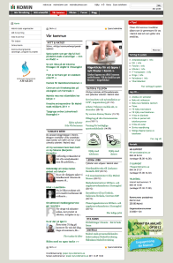 Screen shot from the intranet at City of Malmö