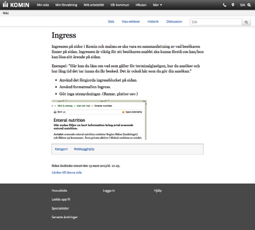 A wiki page on our intranet, running on Mediawiki.