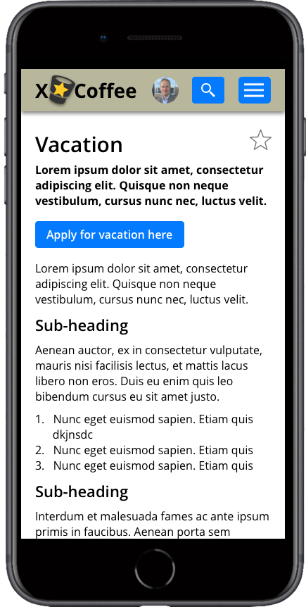 iPhone content page 1